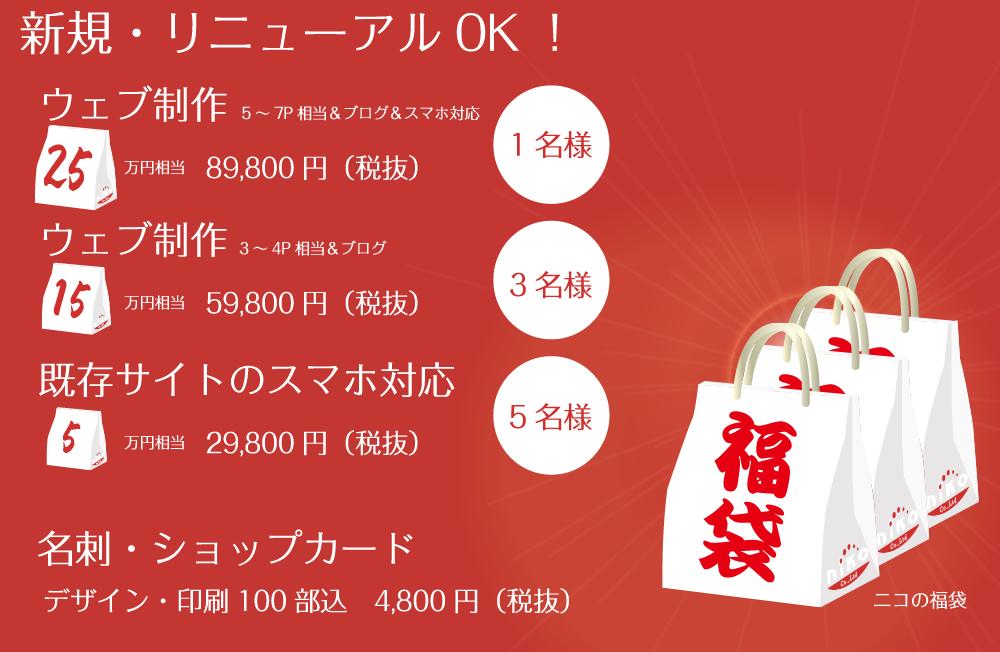 ニコのWEB制作福袋発売!